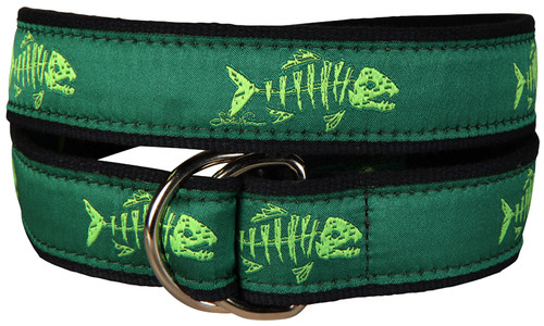 Rogue Fish D-Ring Belt - Lime Apple