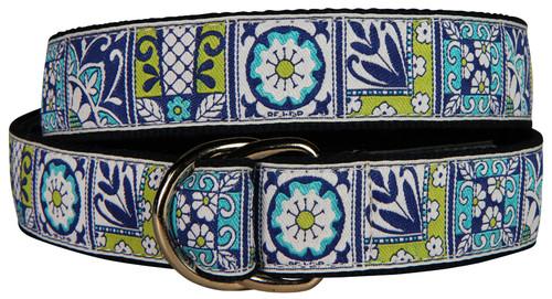 Damariscotta Pottery Tiles D-Ring Belt