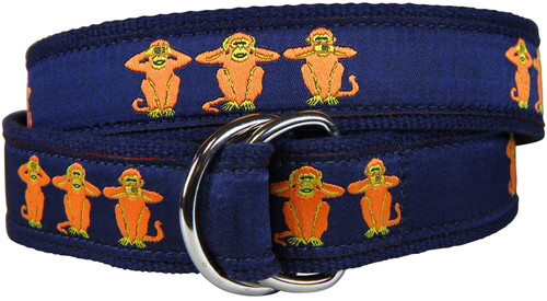 See No - Hear No - Speak No Evil D-Ring Belt
