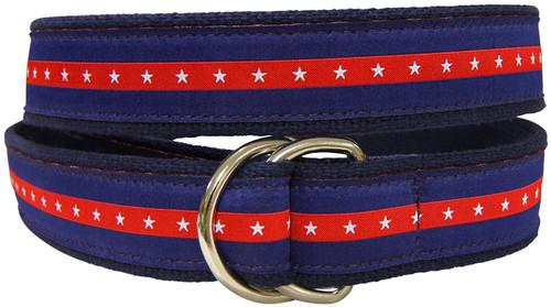 Patriotic Stripe D-Ring Belt