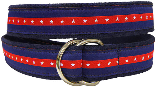 Patriotic Stripe D-Ring Belt