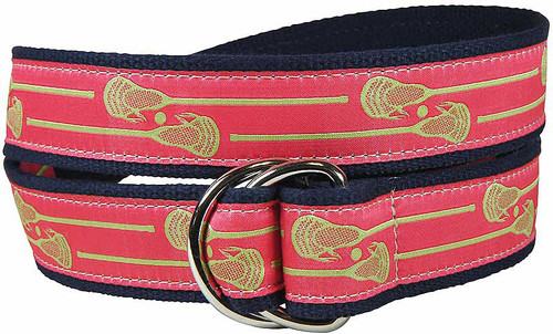Lacrosse Sticks D-Ring Belt | Coral