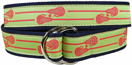 Lacrosse Sticks D-Ring Belt - Lime