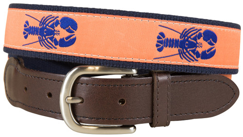 Lobster Ribbon Belt Orange