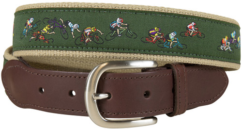 Tour de Pants Leather Tab Belt