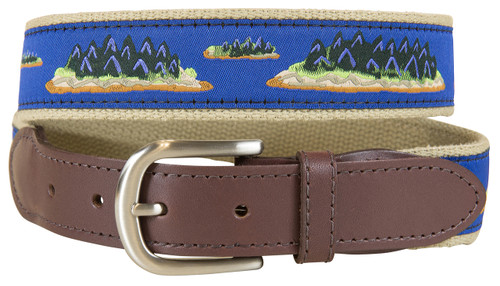 Hopkins Islands Leather Tab Belt