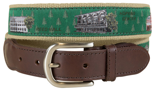 Dartmouth View from the Green Leather Tab Belt