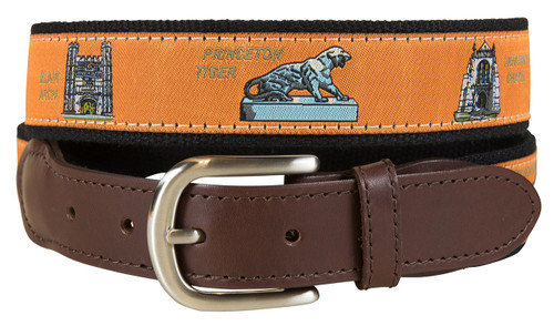 Princeton View from the Green Leather Tab Belt