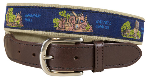 Yale View from the Green Leather Tab Belt