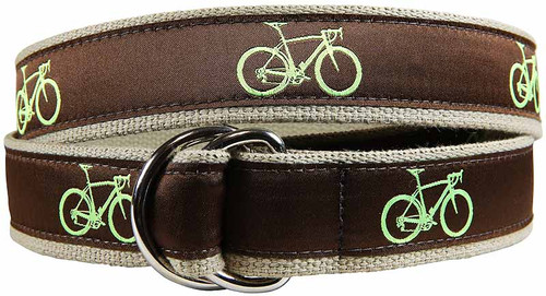 Road Bike D-ring Belt - Brown