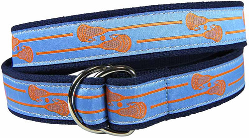 Lacrosse Sticks (blue) D-ring Belt