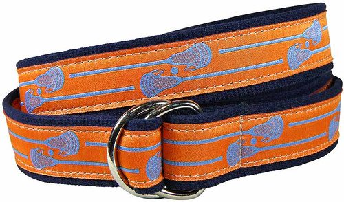 Lacrosse Sticks (orange) D-ring Belt