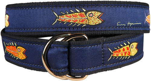Hopkins Fish (blue) D-ring Belt