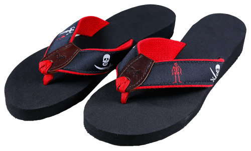 Pirate Flags Flip Flops | Midnight