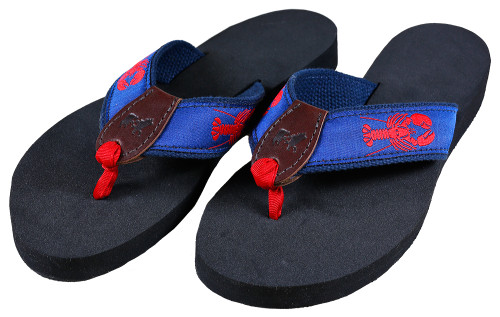Lobster Flip Flops | Navy