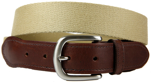 Tan Surcingle Leather Tab Belt