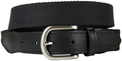 Surcingle (black) Leather Tab Belt