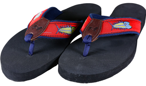 Hopkins Fish Flip Flops | Red