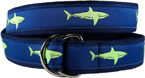 Shark D-ring Belt - Lime