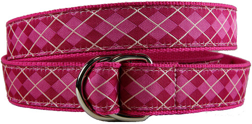 Wildberry Argyle D-ring Belt