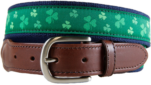 Shamrock Leather Tab Belt