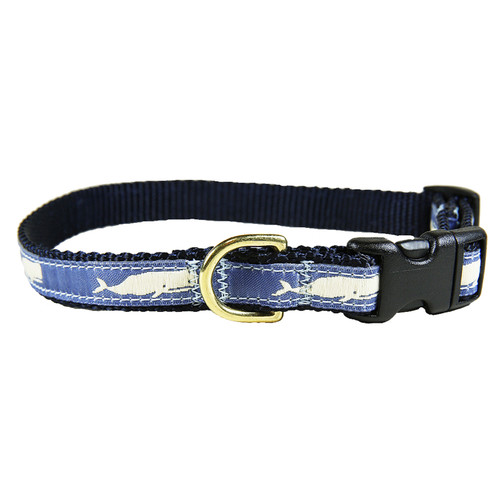"Blue Moby Whale 5/8"" Dog Collar"