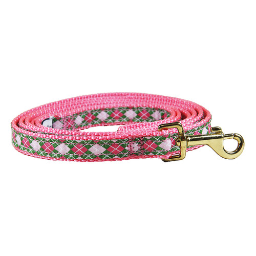 Argyle (Pink&Green) Dog Lead
