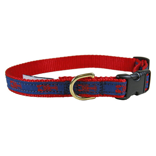 "Navy Maine Lobster 5/8"" Dog Collar"