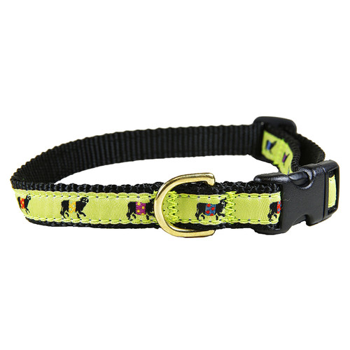 Lime Beltie Dog Collar