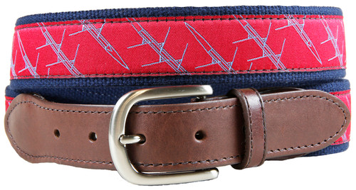 Quad Crew Shell Leather Tab Belt
