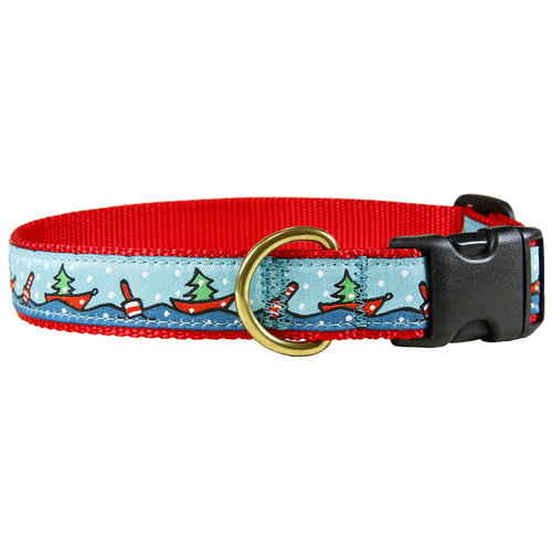 "Holiday Boats 1"" Dog Collar"