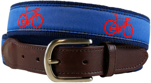 Road Bike Leather Tab Belt