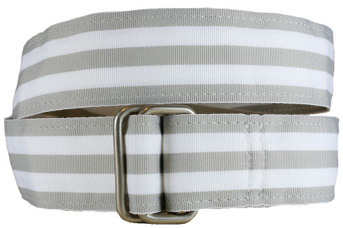 Gray Grosgrain Belt