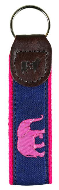 Elephant Key Fob | Pink