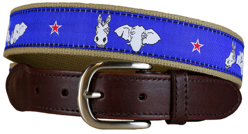 Donkey & Elephant Leather Tab Belt