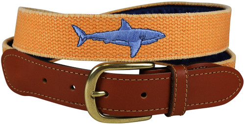 Bermuda Embroidered Belt | Shark Orange