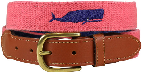 Bermuda Embroidered Belt - Whale