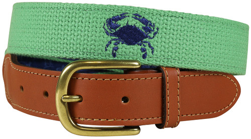 Bermuda Embroidered Belt | Crab