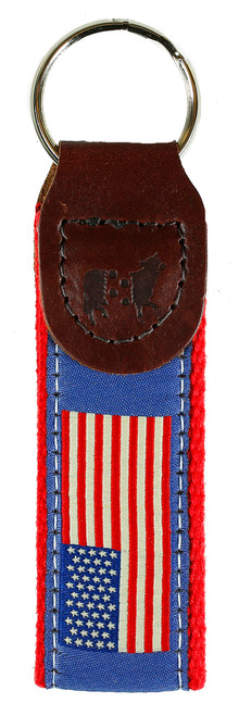 USA Flag Key Fob