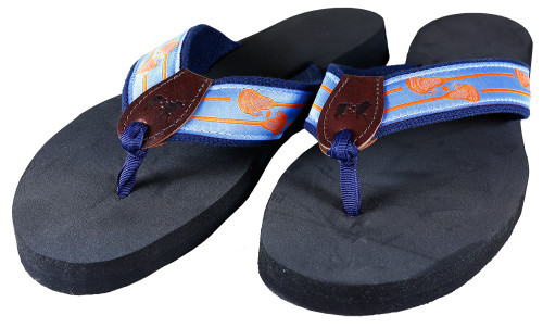 Lacrosse Sticks Flip Flops | Blue