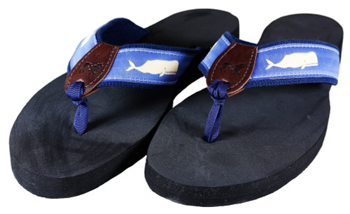 Moby Whale Flip Flops | Blue