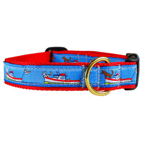 "Lobster Boats 1"" Dog Collar"