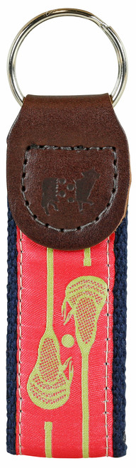Lacrosse Key Fob | Coral