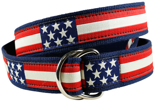 Retro Flag D-Ring Belt