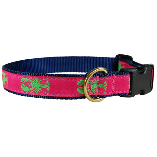 "Rasberry Lobster 1"" Dog Collar"