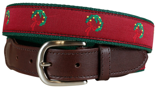 Holiday Wreath Christmas Belt