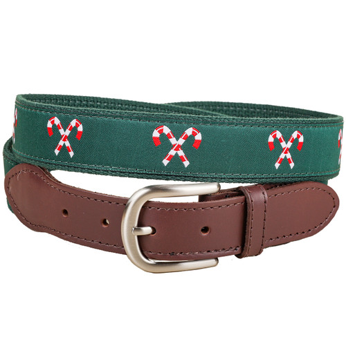 Candy Canes Christmas Belt