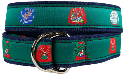 Ugly Christmas Sweater D-ring Belt