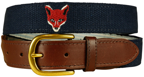 Embroidered Fox Belt