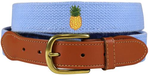 Bermuda Embroidered Belt -Pineapple